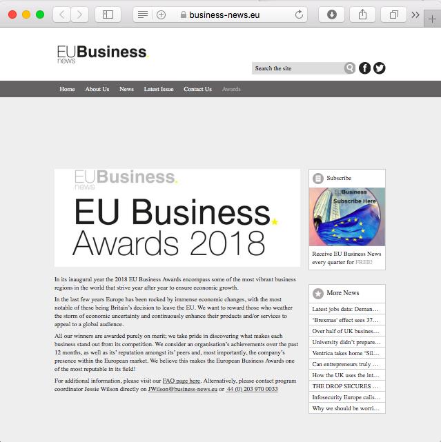 EU awards 2018