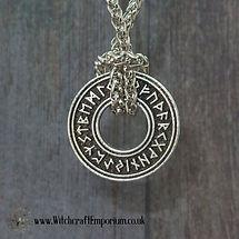 Rune Wheel necklace pendant Jewellery Jewelry Pagan WIccan Wicca Magic Magick Crystal Spells.JPG