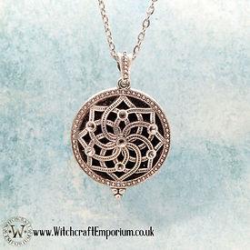 Mandala Aromatherapy necklace pendant Je