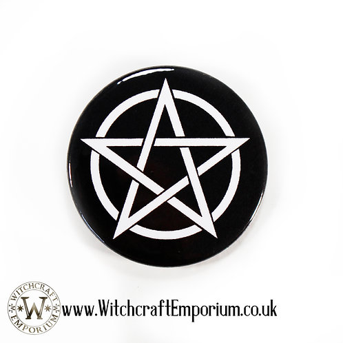 Pentagram White Badge