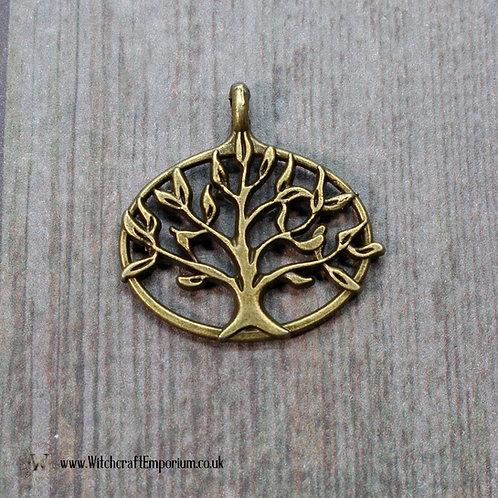 Tree of Life Oval Bronze Charm