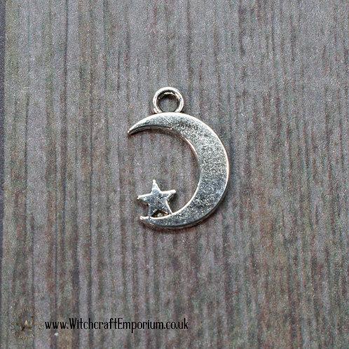 Moon Star Silver Charm