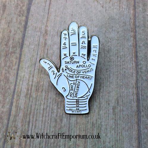Palmistry Hand Pin