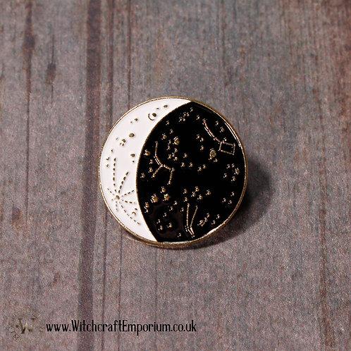 Constellations Moon Pin