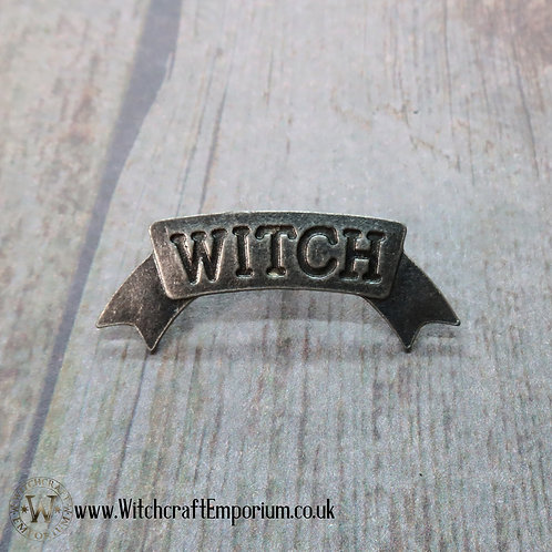 Witch Banner Pin