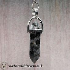 Black Granite Quartz Dowsing Pendulum Di