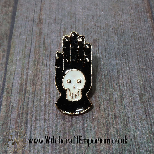 Hand Skull Pin