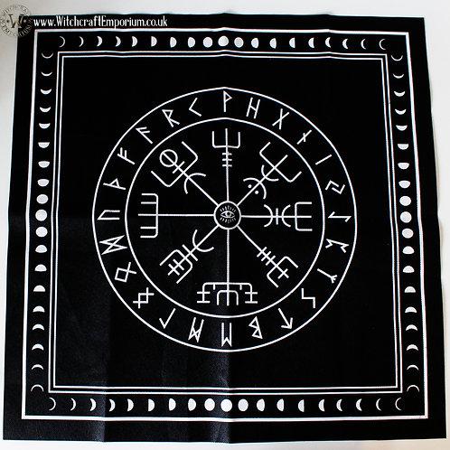 Nordic Tarot & Runes Mat - Black