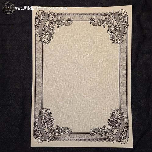 Ornate Parchment Paper #4