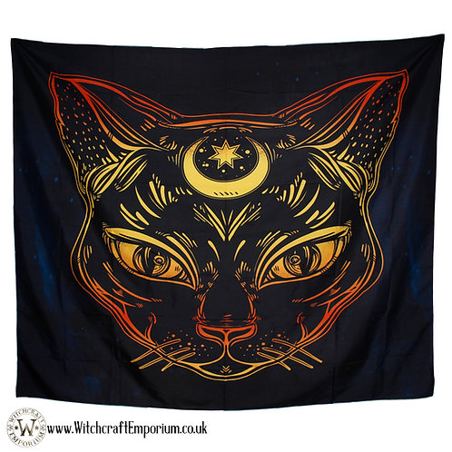 Celestial Cat Wall Tapestry