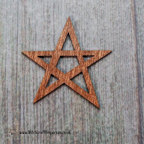 Wooden Pentagram Charm