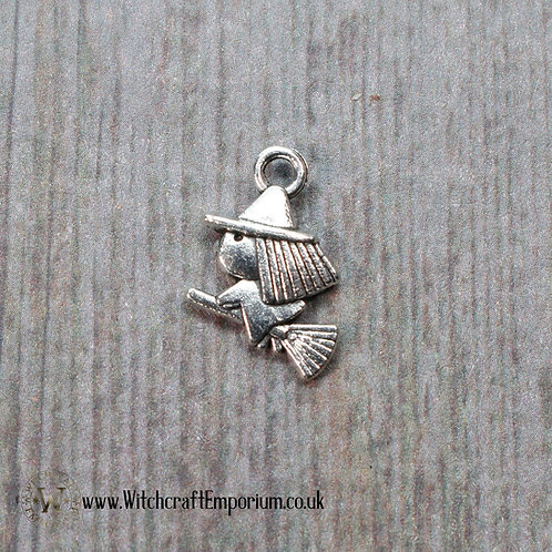 Witch on Broomstick Charm