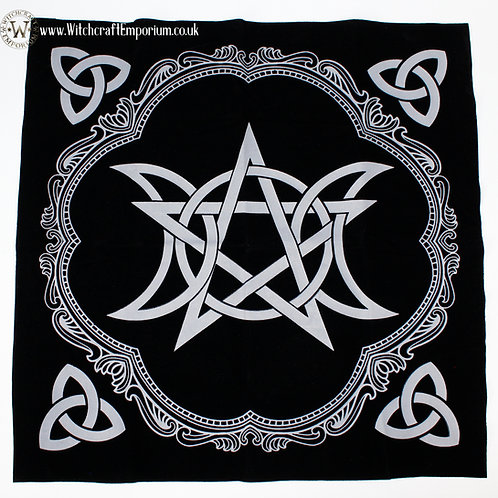 Celtic triple Moon Tarot & Runes Mat