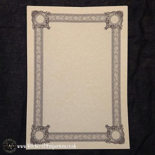 Ornate Parchment Paper #2