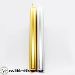 Silver Gold Ritual Altar Candle Vegan Ma
