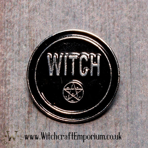 Witch Pentagram Pin