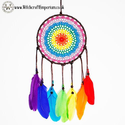 Rainbow Chakra Pride Dream Catcher