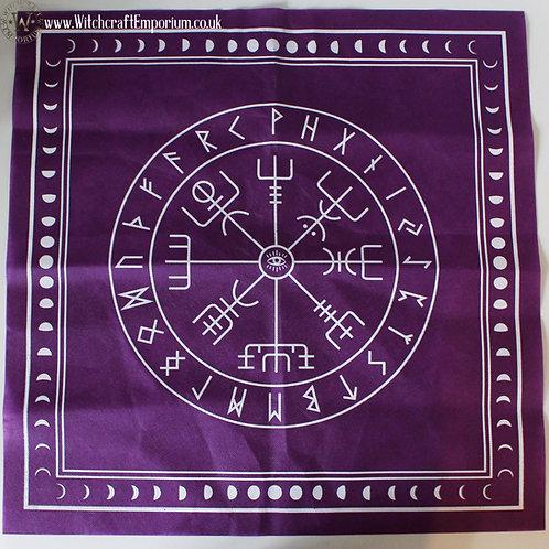 Nordic Tarot & Runes Mat - Purple