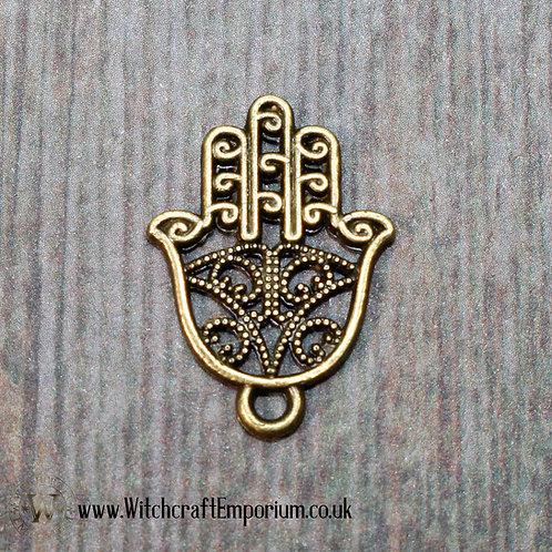 Fatima's Hand Bronze Charm