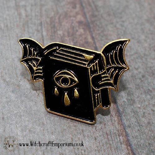 Vampire Book Pin