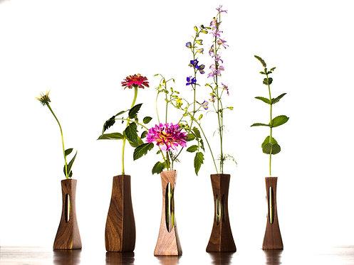Walnut Standing Bud Vase