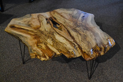Live Edge Maple Coffee Table with Hairpin Legs