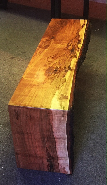 Live Edge Maple Waterfall Bench