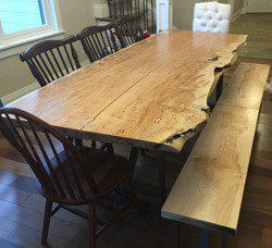 Ambrosia Maple Dining Table and bench