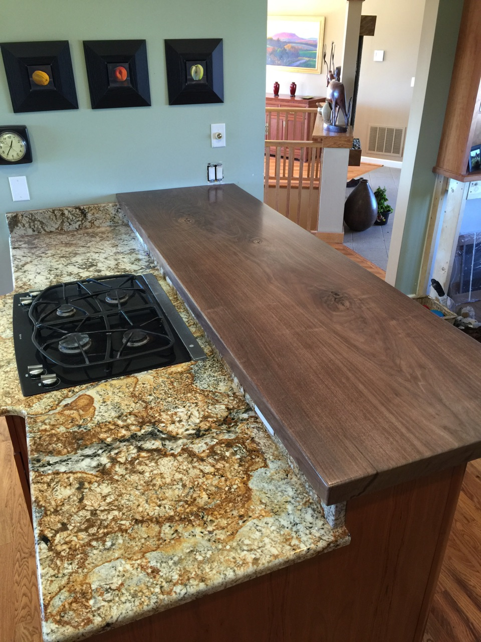 Black Walnut Slab Countertop