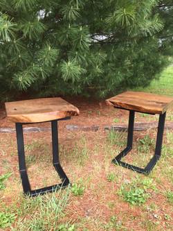 Live Edge Walnut End Tables