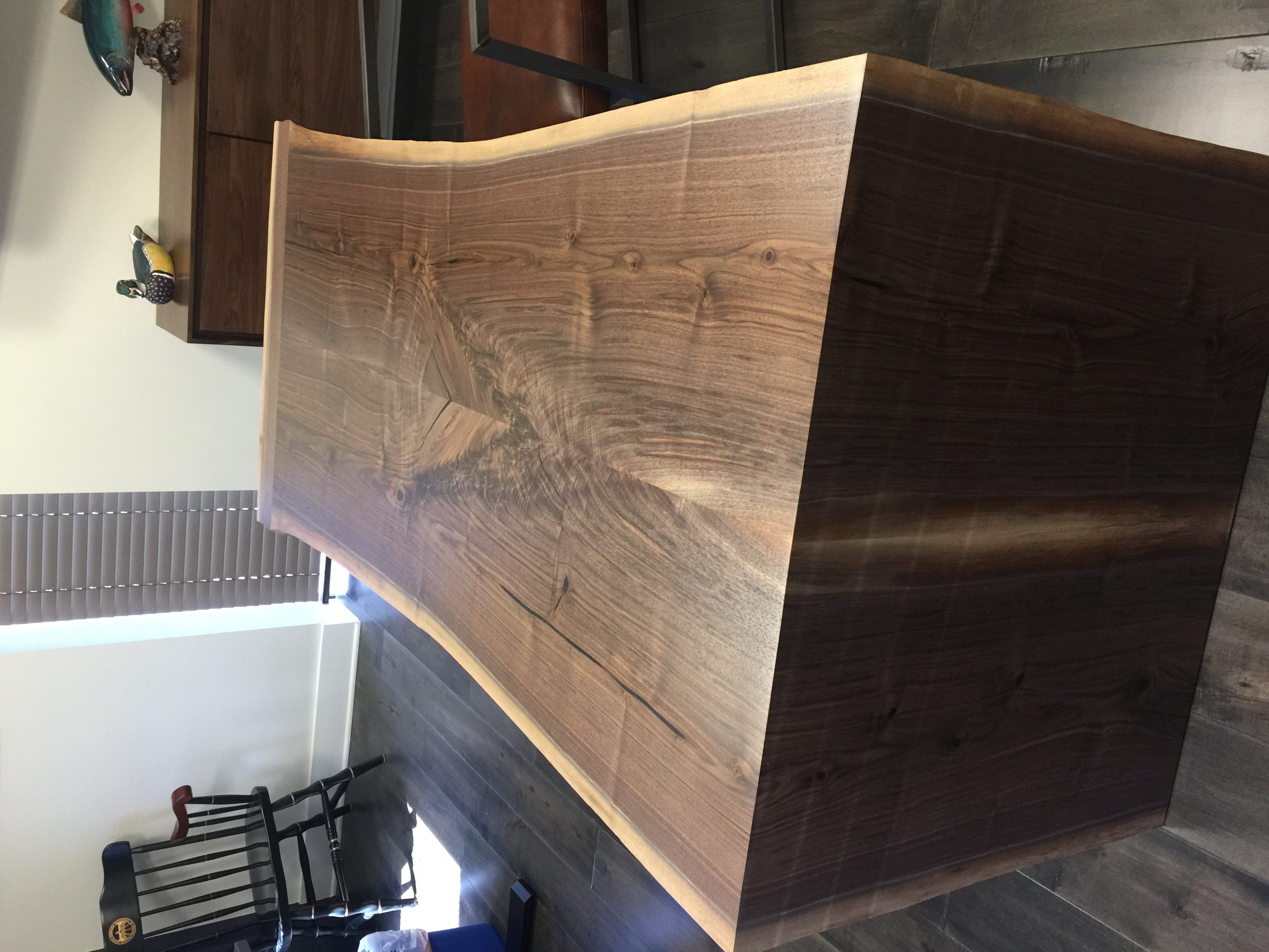 Live Edge Walnut Waterfall Desk