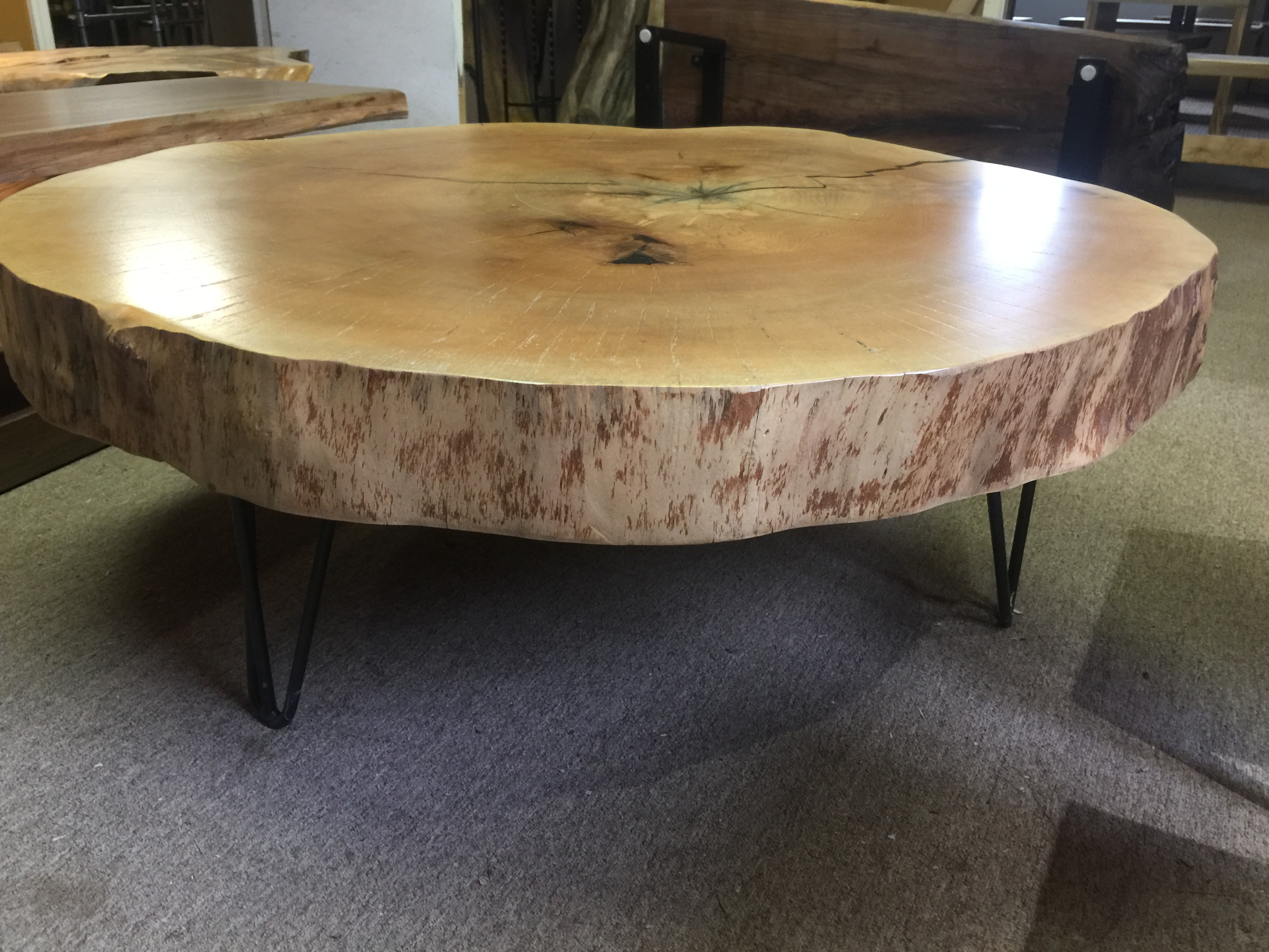 Live Edge Oak Cookie Table