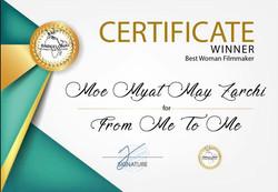 Winner Best Women filmmaker