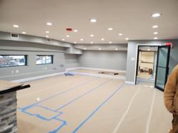 Business interior space, progress