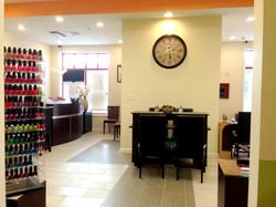 entrance area nail salon design