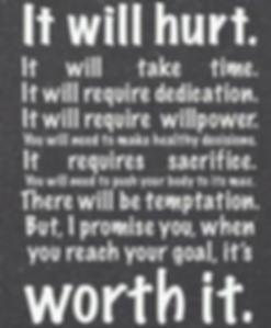 It will be worth it!