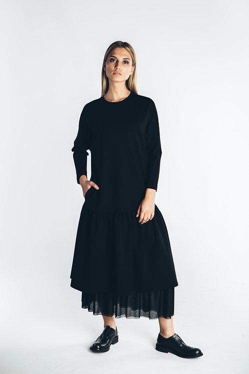 Платье с нижней юбкой