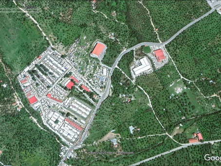 See the evolution of four major European refugee camps through satellite imagery