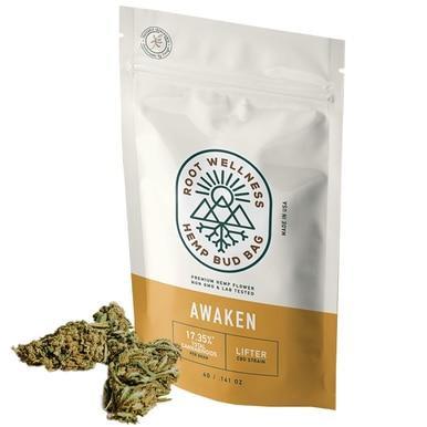 Root Wellness - Hemp Flower - Awaken Bud Bag