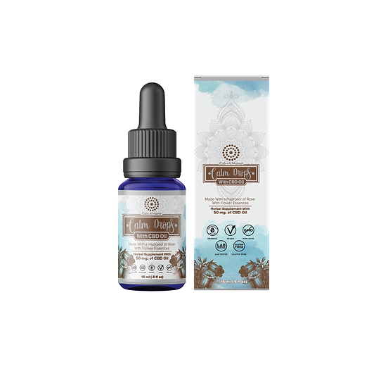 Calm Drops With Hemp Oil - Pain & Stress Relief
