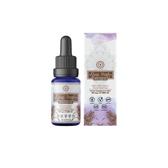 Sleep Drops With Hemp Oil - Chamomile, Flower Essences Natural Sleep Aid CBD