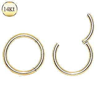 14Kt. Yellow Gold Seamless Clicker Ring
