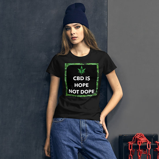 CBD is Hope Not Dope Women's short sleeve t-shirt