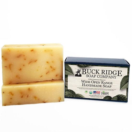 Wide Open Range Men's Handmade Soap - USDA Certified Organic