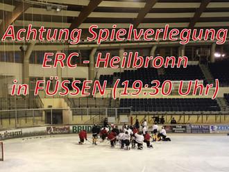 Kurzfristige Spielverlegung des ersten Testspiels: ERC Sonthofen empfängt Heilbronner Falken in Füss