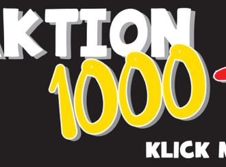 Nachricht vom Team der Aktion 1000+