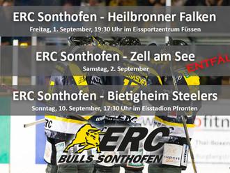 Keine Vorbereitungsspiele des ERC Sonthofen in Oberstdorf: Test gegen Zell am See entfällt - Spiel g