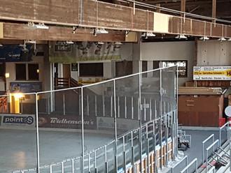 Die neue LED-Lichtanlage im Eisstadion ist installiert!