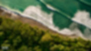 aerial photo of beach in Costa Rica, Aerial video is available