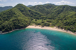 aerial photo of the costa rican coast in Guancaste
